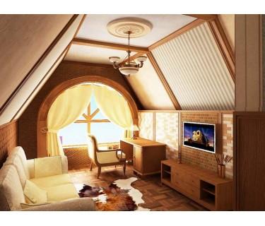 Идеи оформления мансарды в деревянном доме