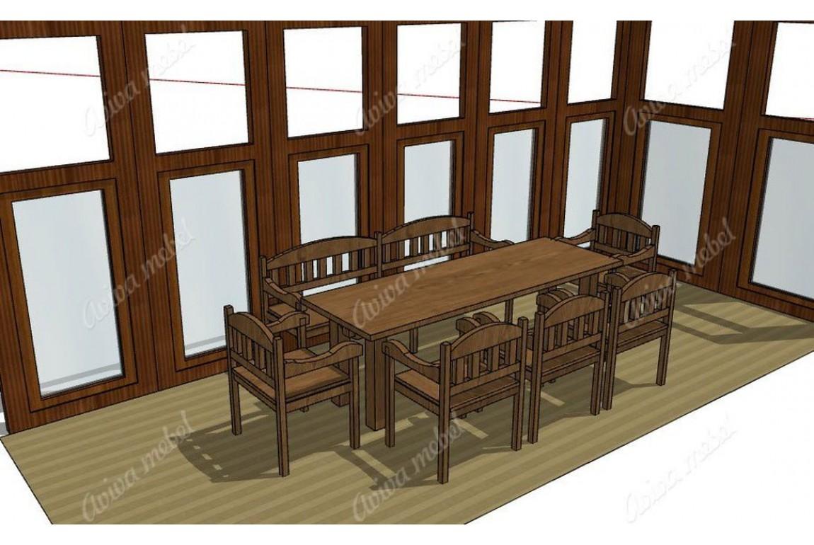 Мебель из дуба на заказ, проект бесплатно, проект бесплатно